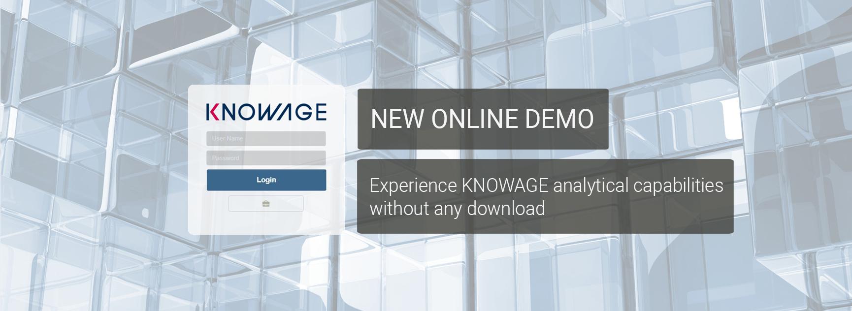 Knowage online demo