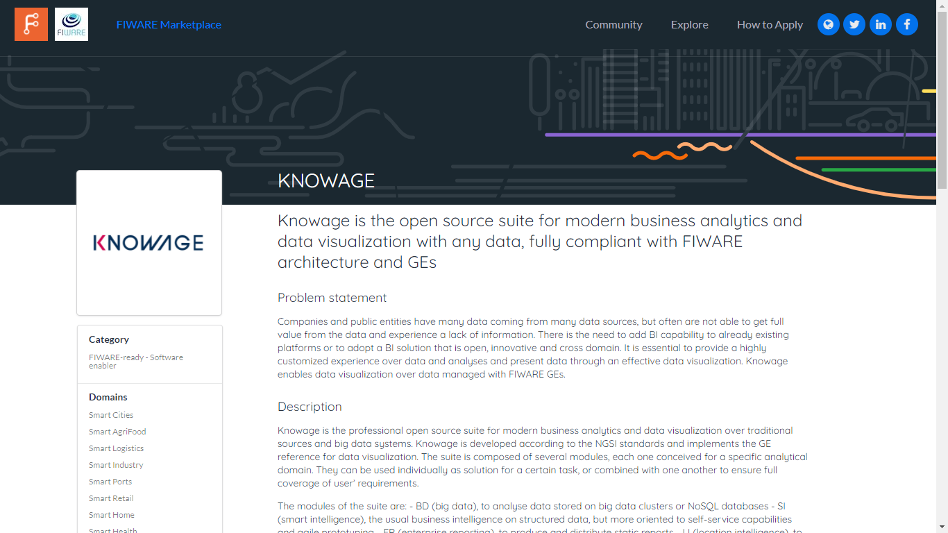 fiware-ready software enabler - knowage